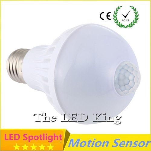 LED PIR Motion Sensor Lamp 5W 7W 9W Led Bulb E27 220V Auto Smart Led PIR Infrared Body Sensor E27 Motion Sound Sensor Lights