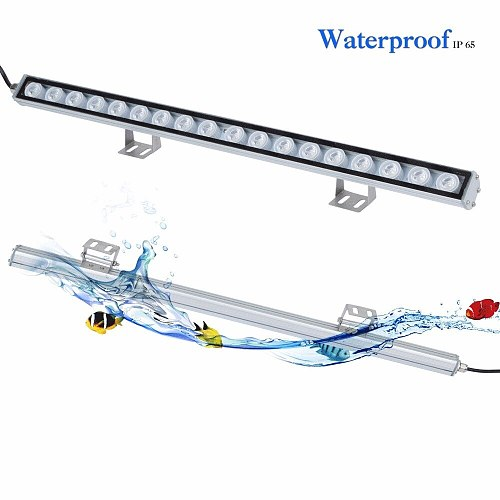 Populargrow 54W/81W/108W Led Aquarium Light with Only 470nm Blue Spectrum Strip Light Beautiful Your Coral Reef Fish Tank Lamp