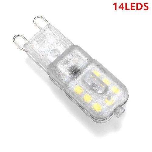10X NEW g9 14LEDS 22LEDS 32LEDS AC220V 230V 240V G9 lamp Led bulb SMD2835 LED High Quality Chandelier Light Replace Halogen Lamp