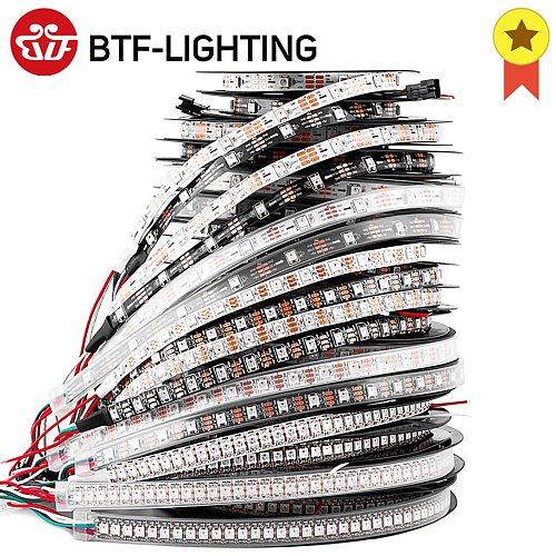 1m 2m 4m 5m WS2812B Led Lights WS2812 RGB Led Strip Light Individually Addressable Led Light Strip Black White PCB IP30 65 67 5V