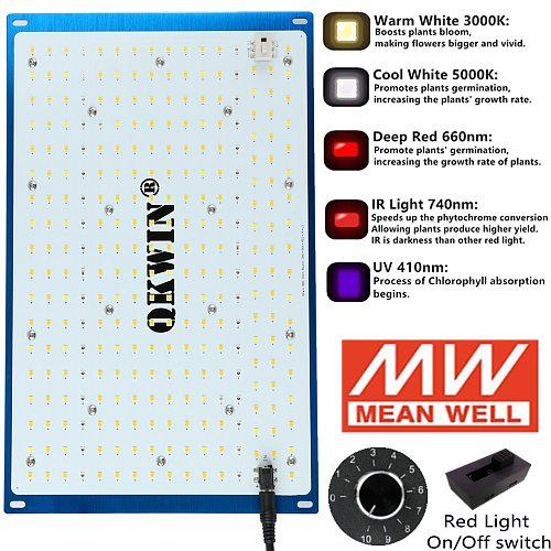 Pre-sell 120W 240W Led Grow Light Board samsung LM301D LM301B QBS built with 3000K 5000K 660nm IR UV full spectrum DIY MW driver