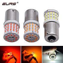 EURS 1pcs 1156 BA15S P21W LED Bau15s 1157 BAY15D P21/5W LED Light Car Turn Signal Brake Lights Auto Lamp 12V 24V Bulbs White Red