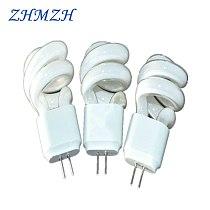 5pcs/lot G4 AC 220V 3W 5W Lens Headlight Energy-Saving Light Bulbs Mirror light Aisle Lamp  Small Spiral Tube  Two Pins