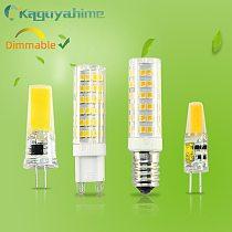 =(K)= G4 G9 E14 Bulb 220V LED Dimmable Light 3w 5w 9w High Brightness LED 12V G4 Bulb Replace Halogen Lamp For Chandelier