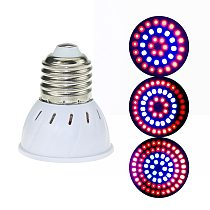 LED Grow Lamp E27/GU10/MR16 220V Plant Light 36 54 72Leds Full Spectrum Growing Lights Red Blue Led For Plants Growth Phyto Lamp
