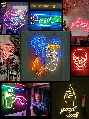 Garage Car Have A Good Day Neon Sign neon Signs Glass Tube neon lights Recreation Garage Windows Iconic Sign Shopping Hall Sign