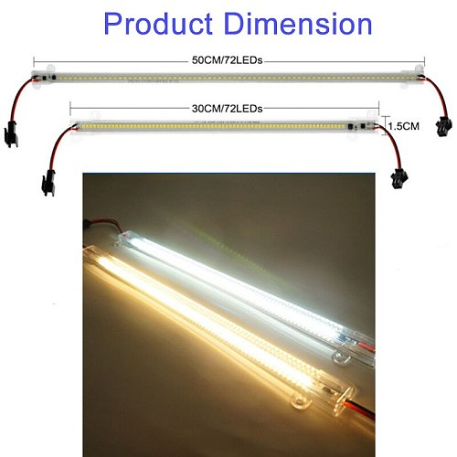 LED Bar Light 30cm 50cm LED Lamp Kitchen Light 220V 72LEDs 2835 Rigid Strip Energy Saving Fluorescent TubeKitchen Under Cabinet