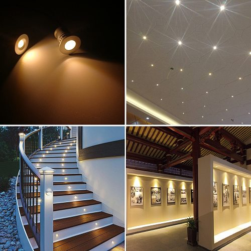1W IP65 Mini LED Spotlight Dimmable 15mm Cutout Recessed Downlight Indoor 12V Spot Light Ceiling Lamp Showcase Display Lighting