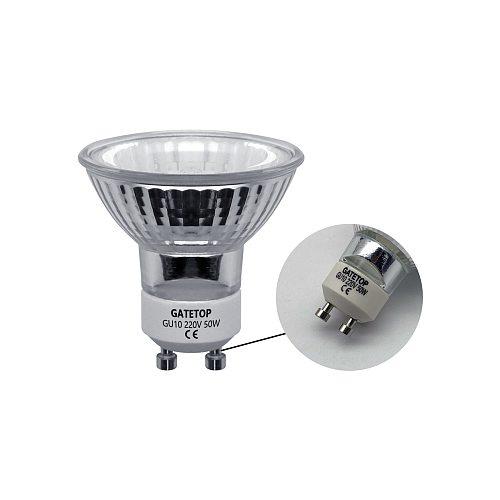 Hot Size Halogen Lamp 50W 8pcs/Lot GU10 220-240V Crystal Chandelier Home Decoration GU5.3
