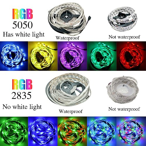LED Strip Lights Bluetooth RGB 5050 2835 Infrared Flexible Lamp Tape Ribbon With Diode DC 12V 5M 10M 20M 32.8ft  Home Decoration