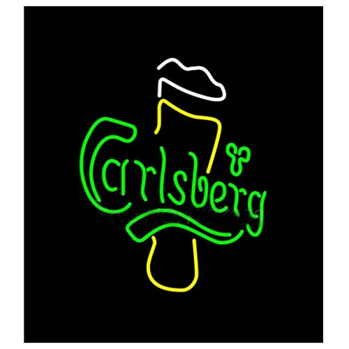 Carlsberg Beer Sign Handmade Real Glass Tube Bar KTV Club Pub Motel Resturant Company Store Advertise Display Neon Signs 14 X17