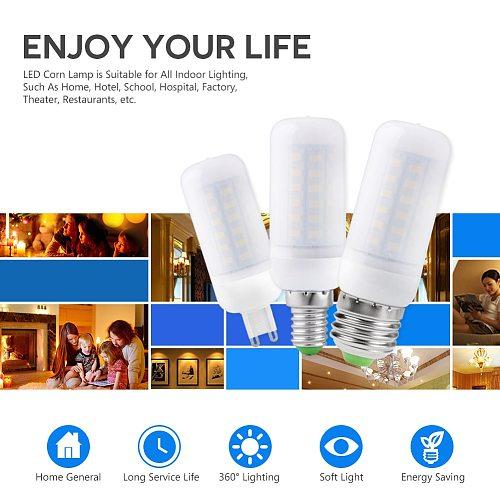 220V GU10 Led Lamp Bulb E14 Led Candle Light Bulb E27 Corn Lamp G9 Led 35 36 48 56 69 72 LEDs Bombilla B22 Chandelier Lighting