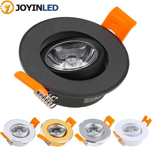 Aluminum Round LED Dimmable Ceiling Downlight 3W AC90-260V DC12V Recessed LED Spot Light Led Bulb Cutout 50mm With Driver