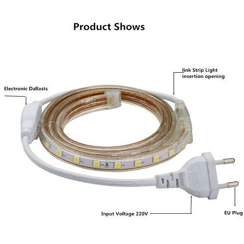 LED Strip Outdoor Waterproof warm white SMD LED Strip SMD 5050 LED Strip Light 1M 2M 5M 10M 20M 25M 220V Flexible light strip