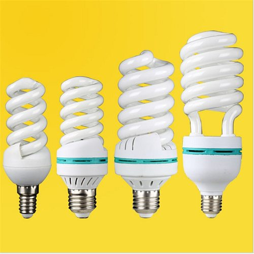 E27 B22 E14 white yellow light 30W 14W 9W full power half spiral tube energy saving light lamp Fluorescent light bulb wholesale