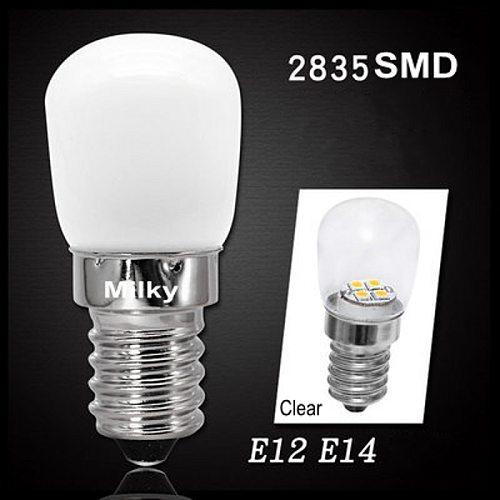 Mini E14 E12 COB LED Light Blub 2835 SMD Glass Lamp for Refrigerator Fridge Freezer sewing machine Home Lighting