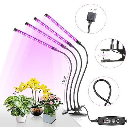 Full Spectrum LED Grow Light DC 5V USB phyto lamp Desktop Plant Growth Lamp For indoor Flower VEG seedling succulent fitolampy