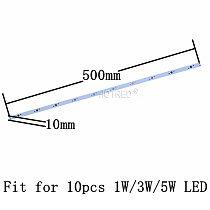 10pcs 10W 30W LED 36W Aluminum Base Plate 500mm*10mm 300*10mm Rectangle Lamp pcb For High Power LED Lights