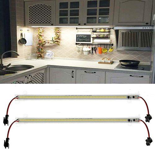 LED Bar Light 30cm 2835 LED Rigid Strip Energy Saving LED Fluorescent Tubes 220V High Brightness Clear Shell Kitchen Showcase