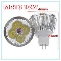 1pcs/ mr16 12V lot high power lighting MR16 12V 12W Dimmable led spotlight lamp bulb warm/pure/cool white LED light