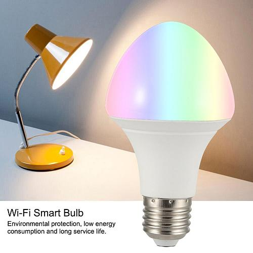 RGB Full Color Smart Bulb Compatible APP Voice Remote Control with Profile E27 LED Dimmable Energy Saving Lighting