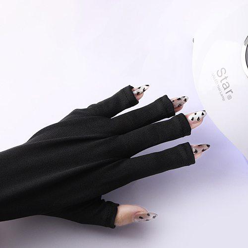 Led Lamp Manicure Nail Art Tools Nail Uv Protection Anti Uv Gloves Rays Protect Gloves Nail Gloves