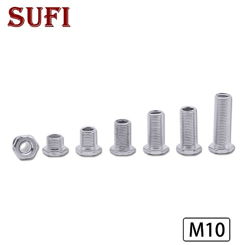 5pcs M10 full dental tube hollow screw screw galvanized six-leg nut dental tube countersunk head tube connection lamp head