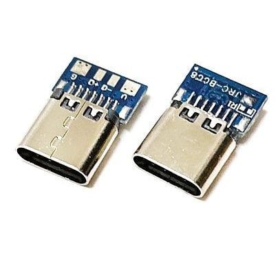 USB 3.1 Type C Connector 14 Pin Female Socket receptacle Through Holes PCB 180 Vertical Shield USB-C