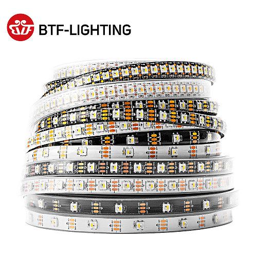 SK6812 RGBW Led Strip Light 4 in 1 Similar WS2812B 1m 4m 5m 30 60 144 LEDs Individual Addressable RGBWW Led Lights IP30 65 67 5V