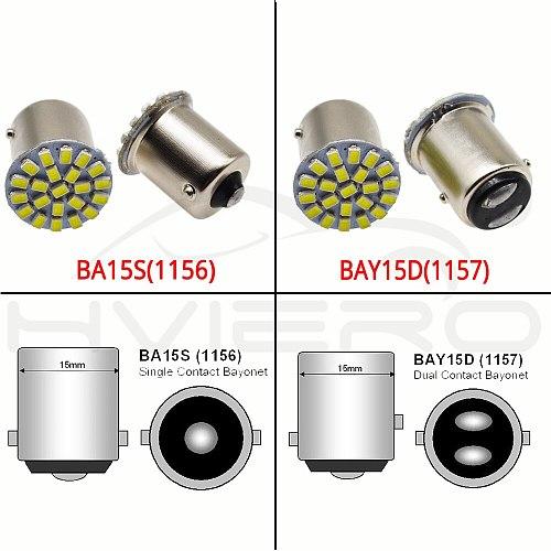 10X 1157 BAY15D 1156 BA15S 3014 22SMD White Brake Turn Signal Tail Light Auto Led Wedge Corner Lamp DC 12V Parking Lamp Auto Led
