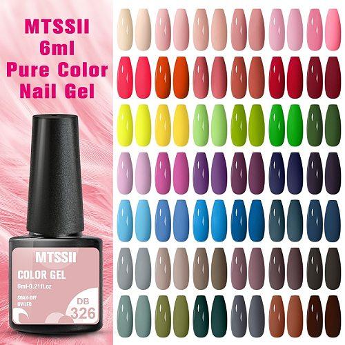 Mtssii 6ml Nail Gel Polish Semi-permanent UV LED Lamp Glitter For Manicure Set Nail Art Nail Base Top Coat Gel lacquer Varnishes