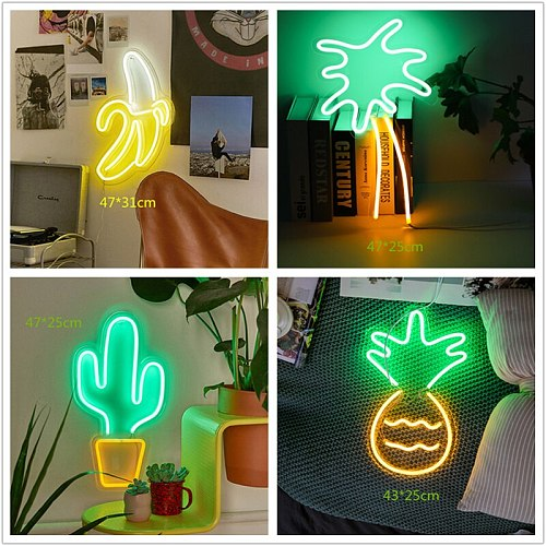 Full Type Neon Sign USB LED Neon Pub Cool Light Wall Art Neon Yellow Signs Bedroom Bar Home Party Holiday Business Decorations
