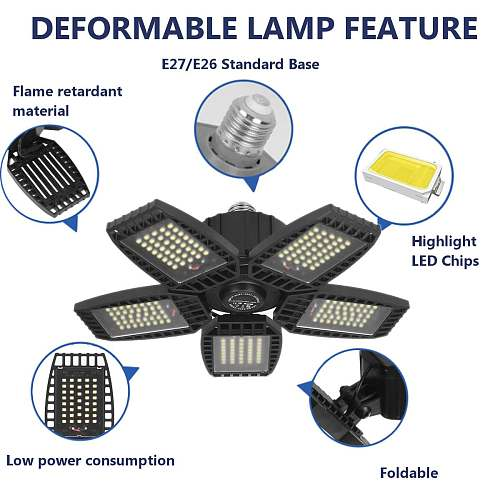 Bright Industrial Lighting 40W 60W 80W E27 Led Garage Light 110V 220V Led High Bay Industrial Lamp for workshop Warehouse