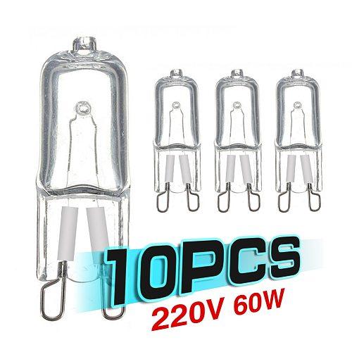 10pcs G9 220V 240V 20W 25W 40W 60W 2900K Warm White Halogen Bulb Light Globe Lamp Halogen Capsule Light