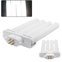 27W FML27/65K Energy Saving Compact Fluorescent 4 Pin Quad Tube Light Bulb Lamp