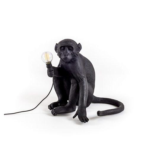 New art monkey table lamp chandelier lighting loft hemp rope chandelier bar coffee shop special lamp