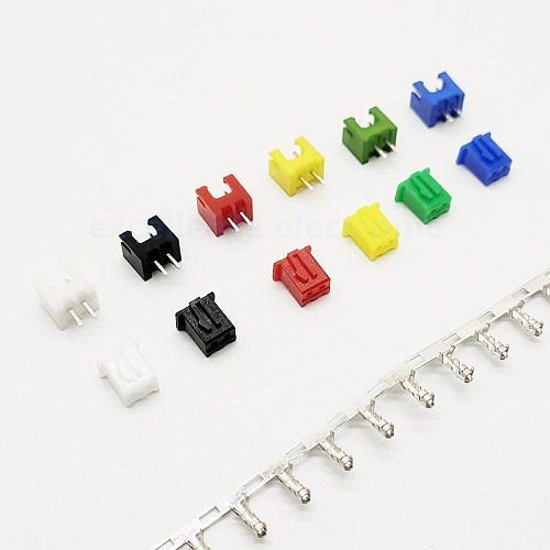 10 Sets XH2.54 Connector Kits 2.54mm Pitch 2P Straigh Pin Header+Housing+Crimp 6 colors available