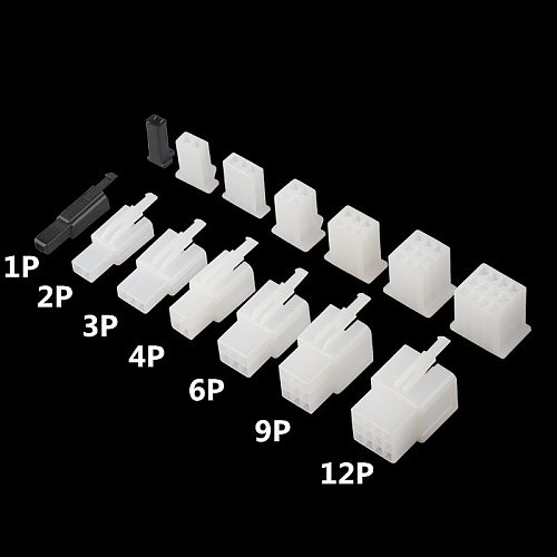 10set/lot 2.8mm 1/2/3/4/6/9/12 pin Automotive 2.8 Electrical wire Connector Male Female cable terminals for Motorcycle ebike car
