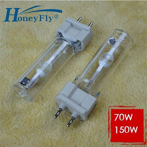 HoneyFly Metal Halide Lamp 220V 150W White/Warm White G12 Single Ended Metal Halogen Lamp Filament Flood Lights Quartz Tube