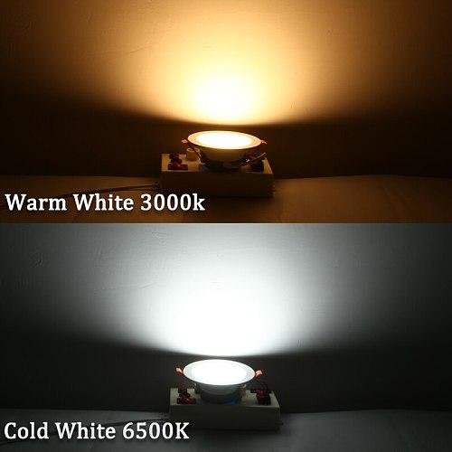 Led Spot Light 220V 110V Round Recessed Spotlights Led Downlight 5W 7W 12W 18W LED Ceiling Spot Lighting For Living Room Bedroom