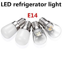 LED Fridge Light Bulb E14 2W Refrigerator Corn bulb AC 220V LED Lamp White/Warm white SMD2835 Replace Halogen Chandelier Lights