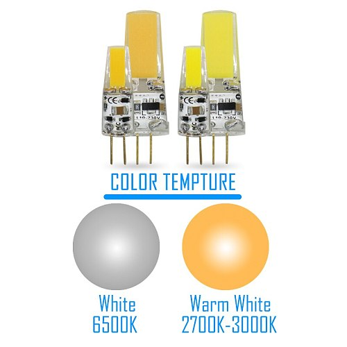 Dimmable COB LED G4 2W 5W Light Bulb AC/DC 12V 220V LED Lamps Spotlight Chandelier Replace Equivalent 50W  Halogen Bulbs