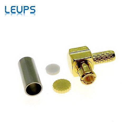 10PCS MCX Male Right Angle Plug Crimp RG174 RG316 LMR100 Cables RF Connector