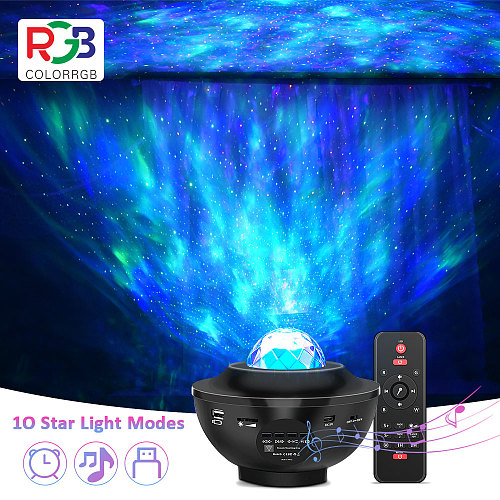 LED Starry Projector Light, USB Powered Music Player, Bluetooth Water Wave Led lamp For kids ,Party,wedding