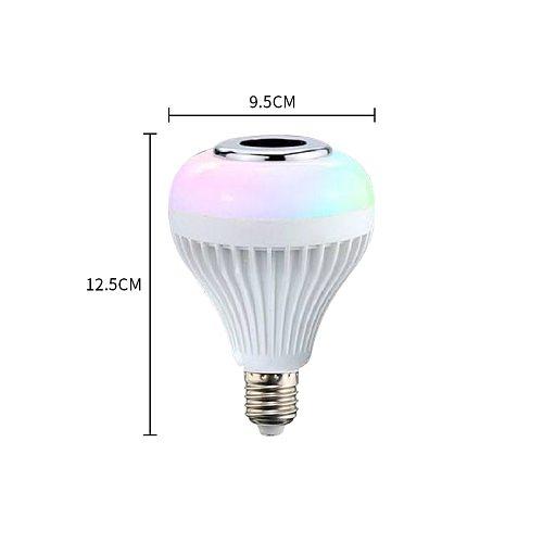Bluetooth Light Bulb Speaker  Smart  LED RGB Color Bulb Light E27 with Remote Control Multicolor Lights E27