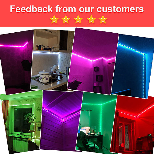 LED Strip Light, RGB 5050 Lights,  Music Sync Color Changing, Built-in Mic, App Controlled LED Lights Rope Lights 5M 10M 20M