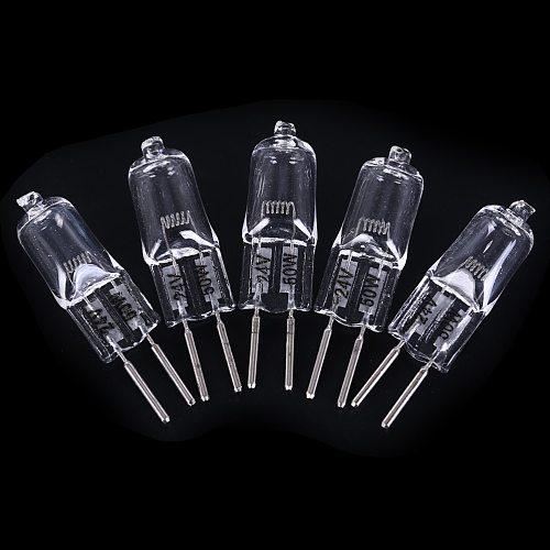 5PCS Halogen G5.3 24V  Lamp 35W / 50W  Halogen Light Warm Bulb Base Clear Halogen Inserted Crystal Lamp