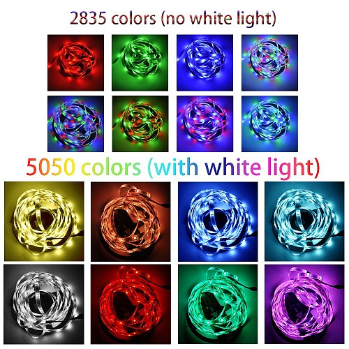 LED Strip Lights Bluetooth IR WIFI RGB 5050 2835 Flexible Lamp Tape Ribbon With Diode DC 12V 5M 10M 32.8ft Holiday Xmas New Year