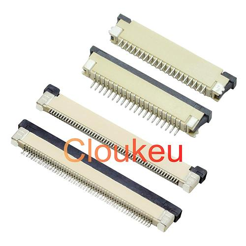 FPC FFC 0.5mm 1.0mm connector socket Drawer type Bottom contact 32P 33P 34P 36P 40P 45P 50P 60P