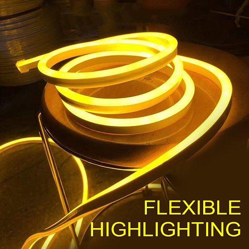 LED Strip Neon Flex Rope Light 12V Flexible Outdoor Lighting Waterproof LED Flexible Tube Strip Light Neon Bulbs Tubes